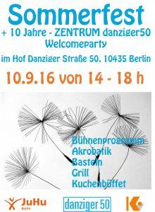 Sommerfest und 10 Jahre ZENTRUM danziger50