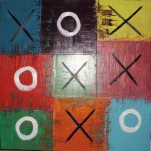 Galerie unter der Treppe | Tic Tac Toe Gewalt kennt keine Grenzen